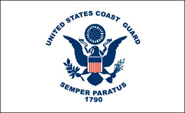 United States Coast Guard 4x6 Desk Flag with Gold Fringe